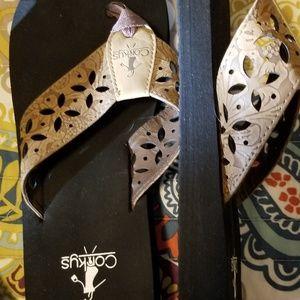 Corkys Womens flip flops